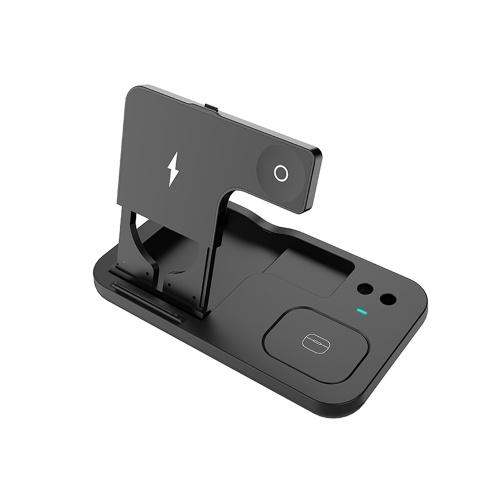 OW-01 Беспроводное зарядное устройство 4 в 1 Беспроводная подставка для быстрой зарядки Qi Замена для iWatch Airpods Pro iPhone 12/11 / 11pro / X / XS / XR / Xs Max Apple Pencil Wireless Charging Pad