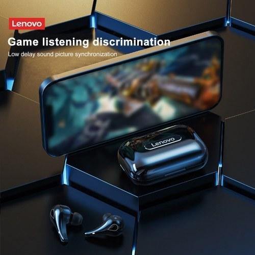 Lenovo LP3 Wireless Bluetooth 5.0-Kopfhörer Wasserdichte TWS-Headsets Stereo-Bass-Sound-Gaming-Ohrhörer mit geringer Latenz und LED-Power-Display