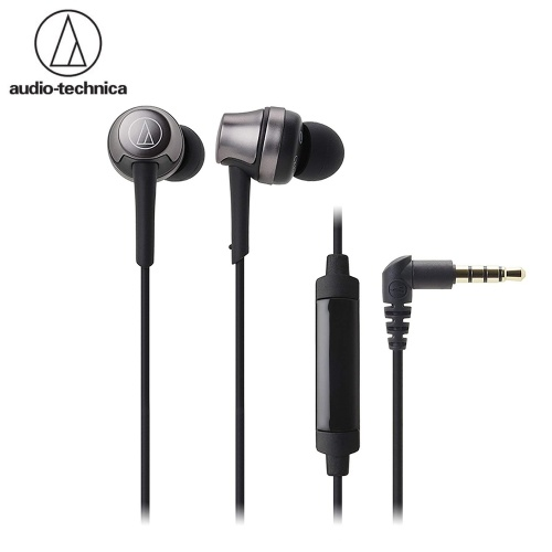 audio-technica ATH-CKR50iS 3.5mm In-ear Headphone with Mic Line Control Headphones Dynamic Headset Heavy Bass Sound Headphone with 1.2m Cable Earphone for Phones Tablet Laptops with 3.5mm Interface