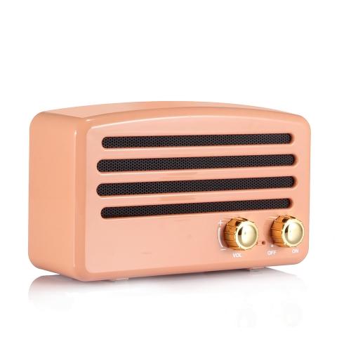 Portable Wireless BT Speaker Stereo Music Subwoofer Knob Retro Loudspeaker Hands-free FM TF Card Line-in