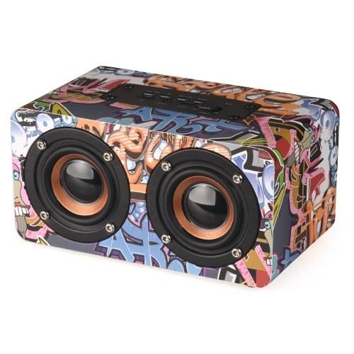 M5 Mini Doodle Wooden Wireless BT Speaker