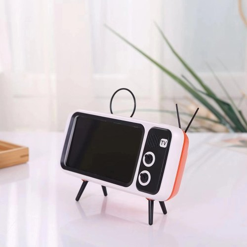 PTH800 Wireless BT Speaker Retro TV Mobile Phone Bracket 2 in 1