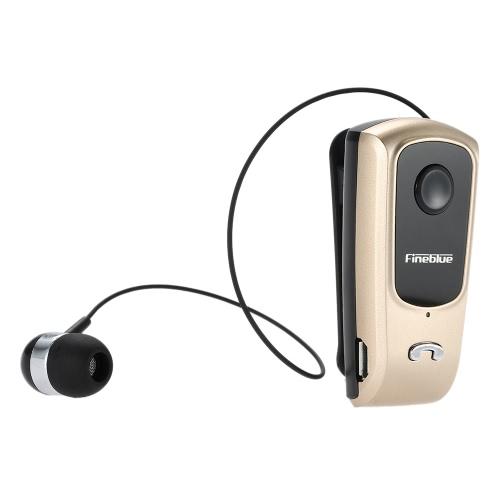 Fineblue F920 BT Stereo Headset sem fio BT 4.0 mãos-livres do fone de ouvido vibrando alerta multi conexão fone de ouvido cabo retrátil com ouro de Clip para iPhone 6S 6 6 Plus Samsung S6 S5 nota 5 HTC Tablet PC Laptop outro BT-habilitado dispositivos