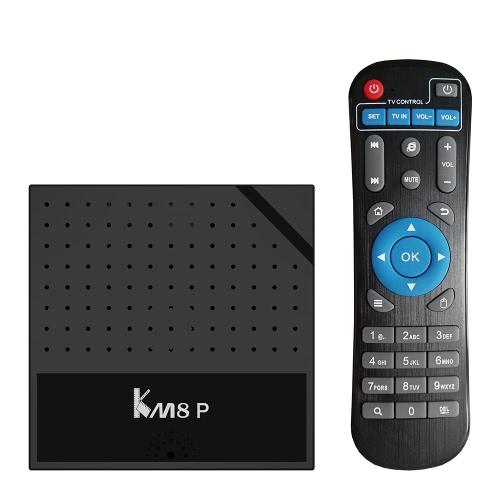 KM8P الروبوت 6.0 تف بوكس أملوجيك S912 الثماني النواة 64bit 2 جرام + 16 جرام h.265 أود 4 كيلو VP9 3d البسيطة بيسي ويفي البث ميراكاست دلنا أو التوصيل