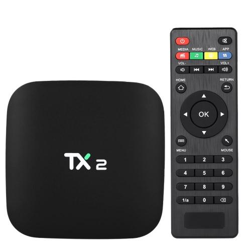 TX2 Android 6.0 TV Box Rockchip RK3229 Plugue de 2GB / 16GB EU
