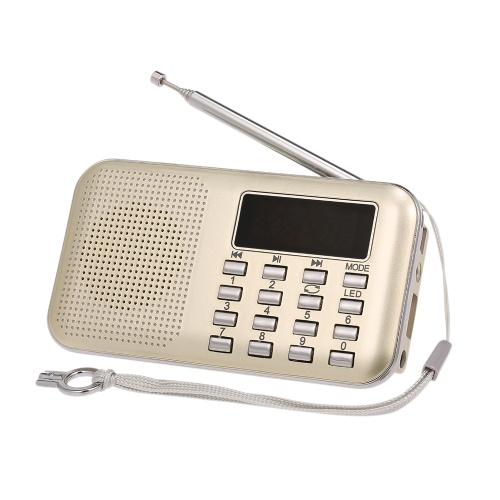 Y  -  896ミニFMラジオデジタルポータブル3Wステレオスピーカー