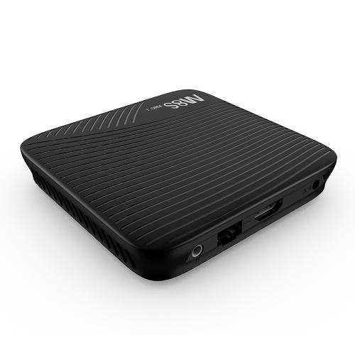 MECOOL M8S PRO L ATV Smart-Android-TV 7,1 TV-Box mit 2,4 G BT-Sprach-IR-Fernbedienung Amlogic S912 Octa-Core 64-Bit-3-GB- / 32-GB-Dualband-WLAN-BT4.1-HD-Media-Player US-Stecker