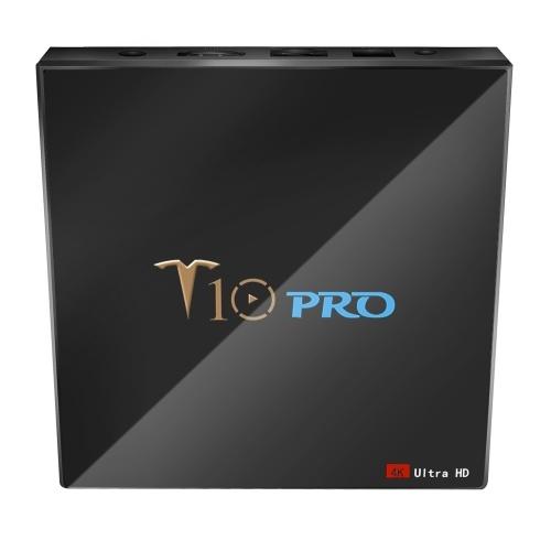 T10 PRO Smart Android 8.1 TV Box Cortex-A53 S905X2 Quad-core UHD 4K VP9 H.265 4 GB + 32 GB Dual-band Wi-Fi Bluetooth4.1 Lettore multimediale HD Schermo LED Schermo Supporto lettore video Scheda da 64 GB TF Spina UK
