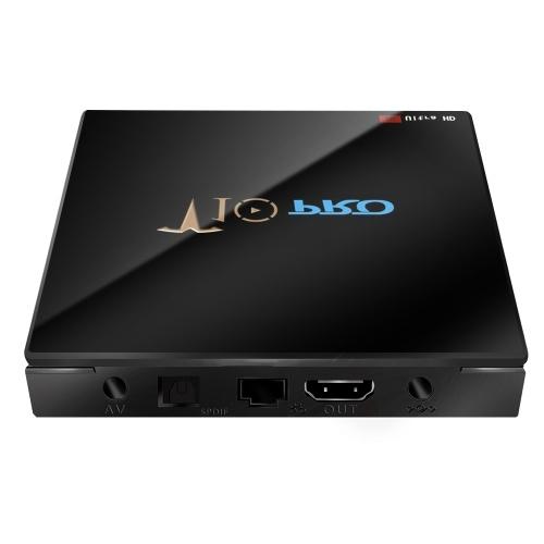 T10 PRO Smart Android 8.1 TV Box Cortex-A53 S905X2 Quad-core UHD 4K VP9 H.265 4GB+64GB Dual-band Wi-Fi Bluetooth4.1 HD Media Player LED Display Screen Video Player Support 64GB TF Card US Plug V5888US-64G