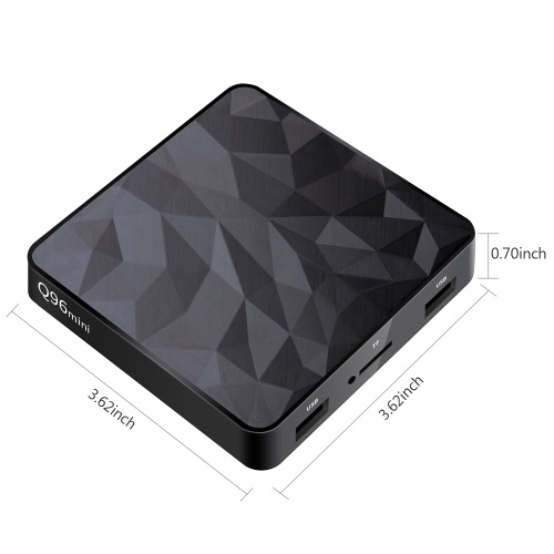 Q96mini Smart Android 7.1 TV Box Amlogic S905W UHD 4K Media Player Quad Core H.265 VP9 2GB / 16GB DLNA WiFi LAN