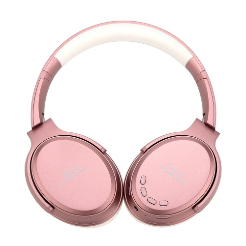 Bluetooth 5.0 On Ear Headphones with Mic Portable Foldable Headset Stereo Bass Earphones Adjustable Headband TF Card Slot AUX IN FM Radio