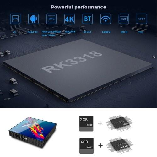 A95X R3 Smart Android 9.0 TV Box RK3318 Quad Core 64 Bit 4GB/32GB UHD 4K VP9 H.265 2.4G / 5G WiFi BT4.2 HD Media Player Display Screen Remote Control