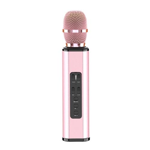 K6 Wireles-s Microphone Karaoké Joueur Enregistrement Chantant Microphone BT4.1 Haut-Parleur Trésor Son Chanter Cadeau Portable Léger Fête D'anniversaire Noël Réunion De Famille pour iPhone iPad Android Téléphone Intelligent PC