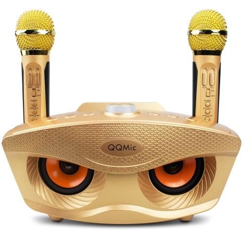 QQ-Mic Аккумуляторная BT-колонка с 2-мя микрофонами Портативная колонка для детей и взрослых