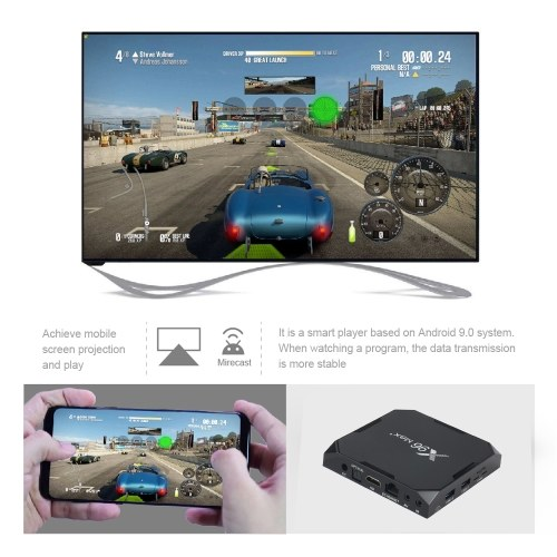 X96 Max Plus TV Box S905X3 Quad-core 64-bit Chipset CPU Cortex-A55 Android 9.0 TV Set Top Box Support BT 8K 4K Media Player 2.4G/5G WiFi