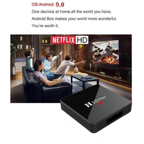 H10 PLAY Smart TV Box Android 9.0 Allwinner H6 Cortex-A53 Quad Core 64 Bit 4GB RAM/64GB ROM 2.4G WiFi Support TF Card H.265 Decoding 6K HD Media Player Set