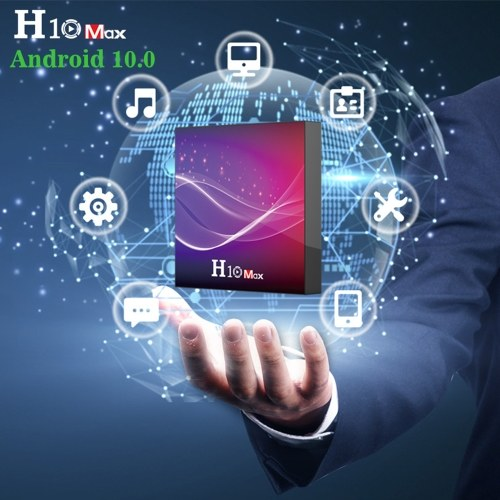 H10 MAX Smart TV Box Android 10.0 H616 Quad Core 64 Bit 2.4G WIFI 6K HDR H.265 4GB/32GB