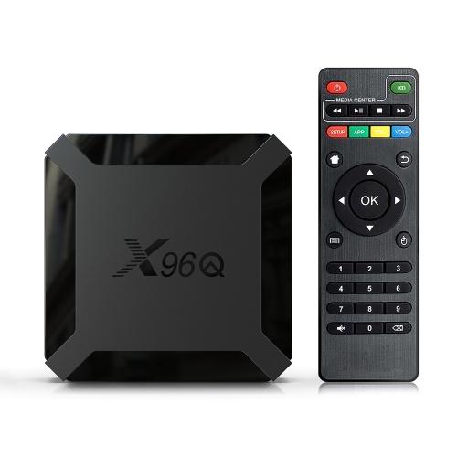 X96Q TV Box Android 10.0 Allwinner H313 Quad Core ARM Cortex A53 TV Set Top Box Supporto 4K 3D Media Player