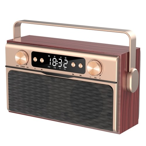 X5 Portable Wireless Bluetooth 5.0 Speaker 20W Loudspeaker Alarm Clock FM Radio MP3 Player Support TF Card U Disk Line In Digital Display