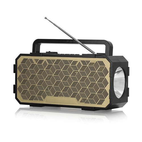 J831 Wireless Speaker Bluetooth 5.0 Flashlight Player Sound Multiple Sound Effects Loudspeaker Support AUX TF USB for Night Outdoor Fishing Hiking Travel