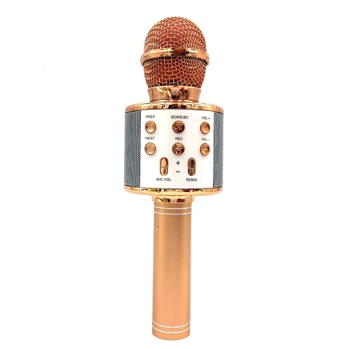 WS858L Illuminated microphone wireless Bluetooth audio integrated WS858 Bluetooth condenser microphone microphone K song black