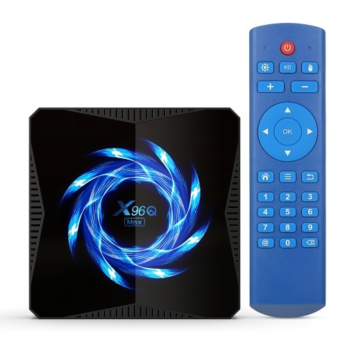 X96Q MAX Android 10.0 Smart TV Box Allwinner H616 Quad-core 4K Media Player HDR H.265 VP9 4GB / 32GB