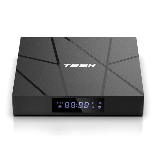 T95H Android 10.0 Smart TV Box Allwinner H616 Quad-core 64 bits 2 + 16GB 6K Media Player LCD Display