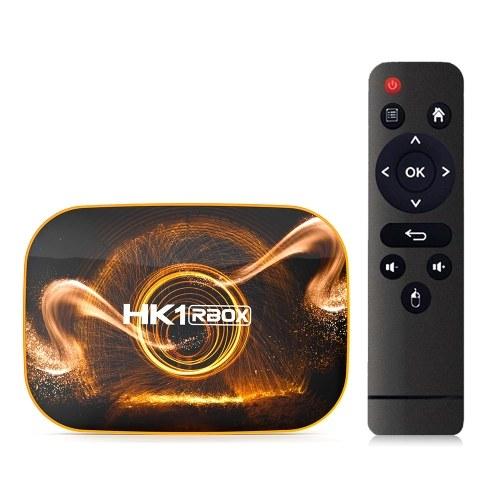 HK1 RBOX R1 Smart TV Box Android 10.0 UHD 4K Media Player RK3318 4GB / 128GB 2.4G / 5G Dual-band WiFi BT4.0 100M LAN Digital Display com controle remoto