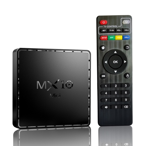 MX10 Mini Android 10.0 Smart TV Box UHD 4K Media Player Allwinner H313 Quad-core H.265 VP9 2GB / 16GB 2.4G WiFi 100M LAN Remote Control