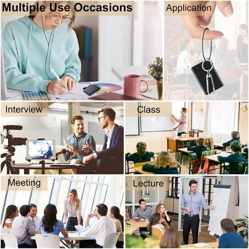 Q85 Mini Voice Recorder Portable Keychain Digital Voice Recorder Rectangle Dictaphone USB Audio Sound Recorder Magnetic Voice Activated Recorder Audio
