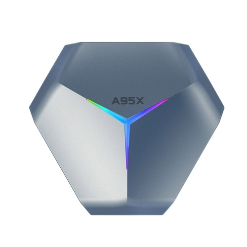 A95x F4 Samrt tv box android 10.0 8K Media Player 4K 3D 2.4G / 5G wifi amlogic s905x4 Quad Core ARM Cortex A55 with Remote Control RGB Lights, support HD / video / Optical Output