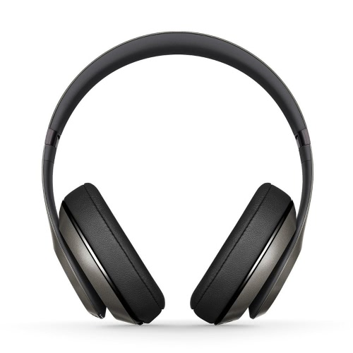 beats studio wireless bt on-ear headphones support apt-x stereo bass earphones w/mic hands-free calls music gaming headset titanium