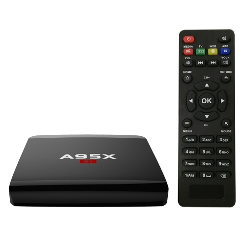 A95X R1 Smart Android 7.1.2 TV Box Amlogic S905W Quad Core H.265 VP9 2GB / 16GB DLNA Miracast Airplay WiFi LAN Reproductor multimedia HD Enchufe del Reino Unido