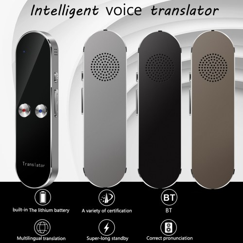 K8 Voice Translator Multi-language Portable Smart Bluetooth Voice Translation Real Time Translating for 68 Language Learning Abroad Travel Business Lecture
