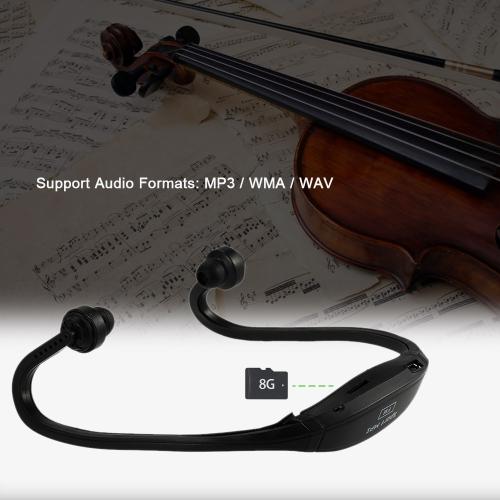 Компактный цифровой музыкальный плеер Двухканальный спортивный MP3 с функцией FM Наушники Беспроводная плагин для гарнитуры Black + Blue для мультимедийного проигрывателя