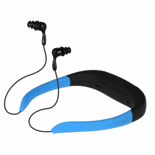 8 Go Sport MP3 Player Super étanche IPX8 sans fil casques stéréo pour la baignade surf (bleu)