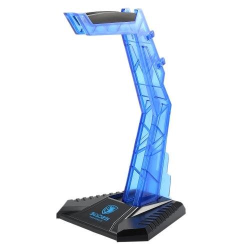 Support d'affichage de SADES Gaming Headphone Stand écouteur titulaire Professional Headset Hanger support bleu pour les casques Sony AKG Sennheiser Logitech Kotion uns des autres