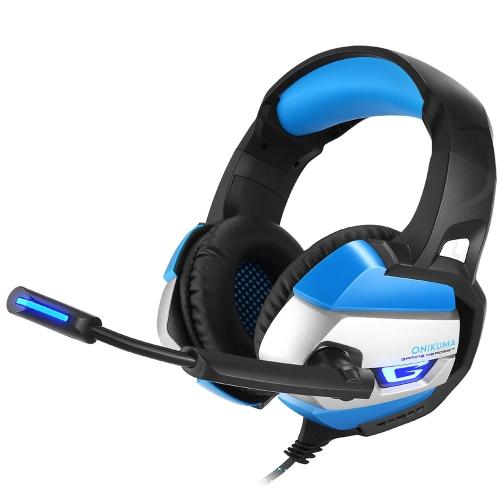 Auriculares estéreo de 3,5 mm para auscultadores ONIKUMA Gaming