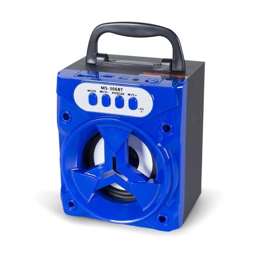 MS-306BT alto-falante portátil sem fio BT com rádio FM 3,5 milímetros de áudio porta USB TF slot para cartão para smartphones tabletas e outros dispositivos habilitados para BT