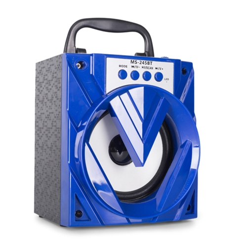 MS-245BT Alto-falante sem fio Reprodutor de música multimídia Alto-falante de áudio BT de 3.5mm com rádio TF / USB / FM para tablets e outros dispositivos habilitados para BT