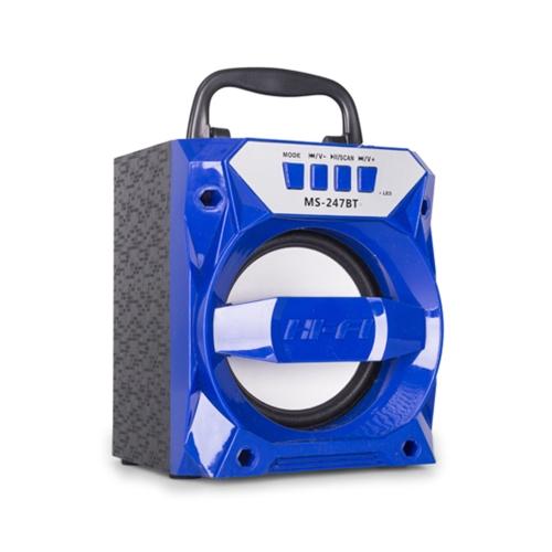 MS-247BT Portable BT Wireless Speaker Hi-Fi Мультимедиа Музыкальный проигрыватель Громкоговоритель FM-радио с TF-слотом для карт AUX USB-порт