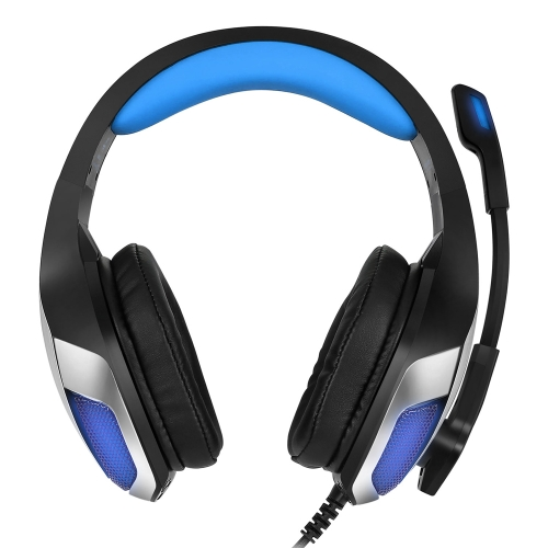 Hunterspider V-4 3.5mm Wired Gaming Headsets Over Ear Headphones Brinco com cancelamento de ruído com microfone LED Light Controle de volume Vermelho para PC Laptop PS4 Novo XBOX ONE