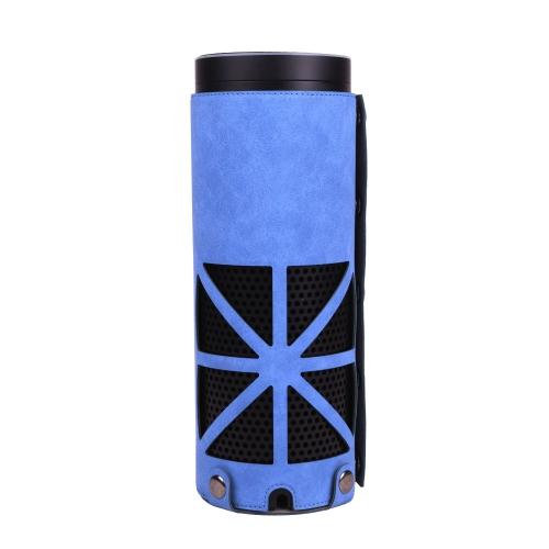 Estojo de proteção para Amazon Echo Plus Armazenamento de armazenamento Bolsa de viagem PU Capa de capa de couro para Echo Plus e 1st Gen Echo Blue