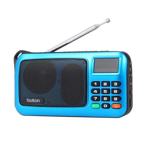 Rolton W405 FM Digital Radio Tragbarer USB Wired Computer Lautsprecher HiFi Stereo Receiver w / Taschenlampe Led-Anzeige Unterstützung TF Music Play