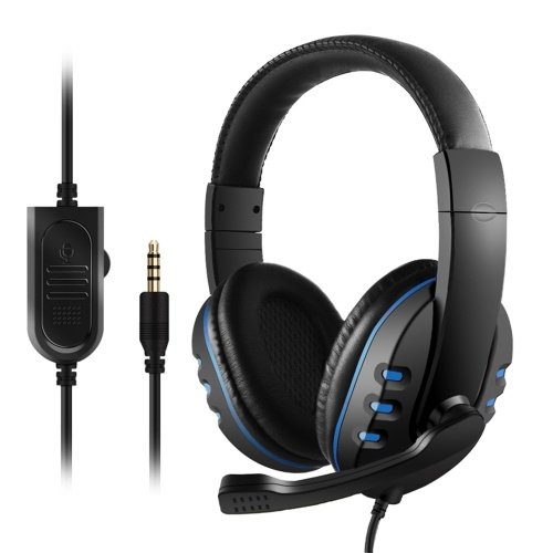 3.5mm Wired Gaming Headset Over Ear Gaming Headphones Noise Canceling Earphone