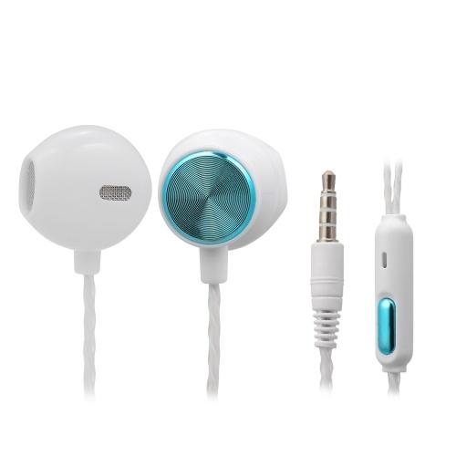 3,5-mm-kabelgebundene Kopfhörer mit Mikrofon für Musik-Kopfhörer Smartphone-Kopfhörer In-Line-Kopfhörer