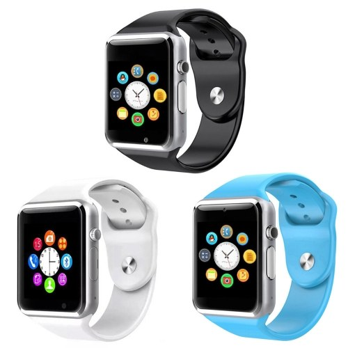 A1 bluetooth smart watch esporte smartwatch touchscreen com câmera tf slot para cartão sim pedômetro music player monitor de sono para crianças mulheres homens