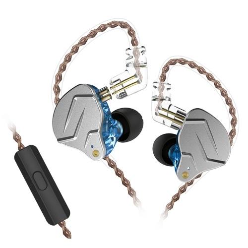 KZ ZSN Pro 3.5mm Fones de ouvido Com Fio com Controle In-line de Microfone Em-orelha Esporte Fone de Ouvido Fone de Ouvido Dinâmico Baixo para Telefones Inteligentes Tablet Laptops com 3.5mm L-tipo Interface