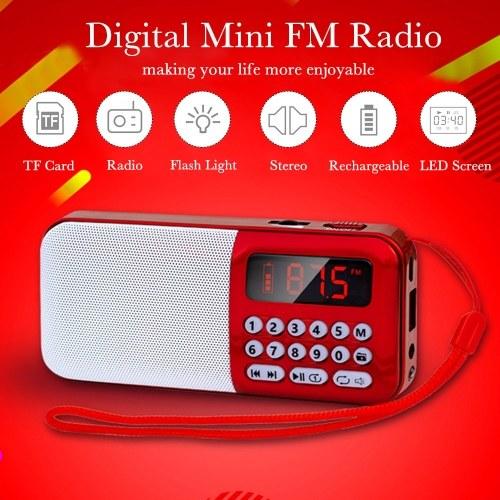 Портативный FM-радио Аккумуляторная беспроводная колонка TF-карта USB-диск MP3-плеер Мини-радио с разъемом для наушников