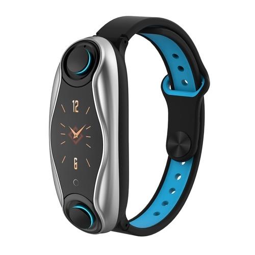 Écouteurs T90 Smart Watch & TWS 2 en 1 Écouteurs sans fil Bluetooth 5.0 véritables